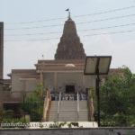 Front view of of Sri Digambar Jain temple at Ranila.