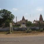 A distant view of of Sri Digambar Jain temple at Ranila.