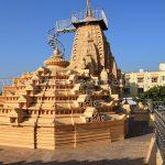 Attractive pinacle of Tirthankar Parshwanath/Prasnath Temple at Mahuva.
