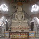 Tirthankar Adinath in Padmasana at Kailash Parvat Jain Temple, Hastinapur.
