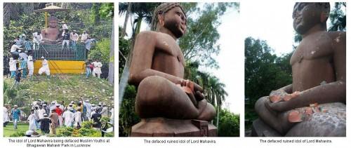 Mahavir Idol Defaced - Lucknow