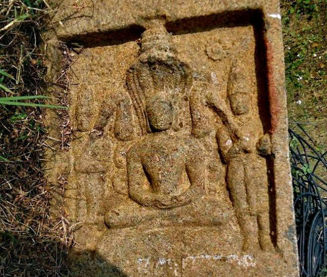 Jain Inscription found at Mallaram of Malhar mandal, in Karimnagar district, Andhra Pradesh.