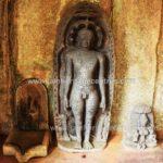 Tirthankar Parshwanath in kayotsarga along with other idols.