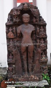Ruined Tirthankar idol in kayotsarga - Jain Museum