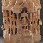 Marble Idol of Jain Tirthankara in padmasana 12th-13th century.