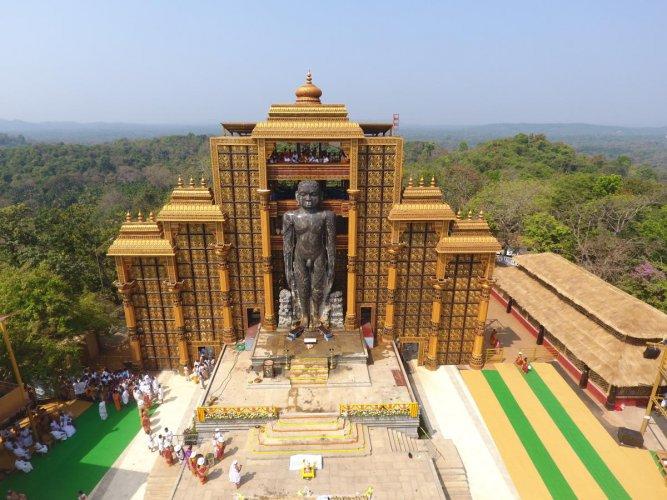 Dharmasthala Bahubali Mahamastakabhisheka - Drone Shot