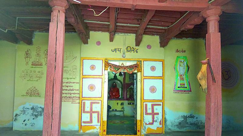 Digambar Jain Temple at Jogipeta, Medak District, Telangana.
