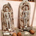 The two Parshwanath Tirthankar Idols kept besides the Chandranath Digambar Jain Temple.