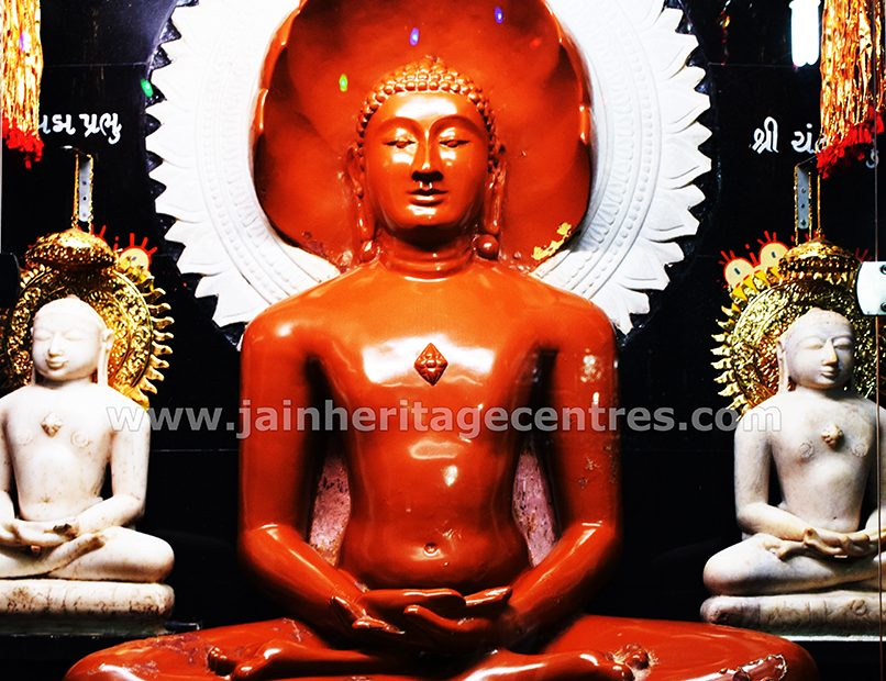 Idol of Tirthankar Chintamani Parshwanath in Padmasana, Sri Digambar Jain Temple, Ankleshwar.