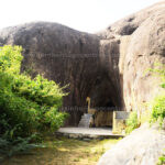 A distant view of the Jain Cave