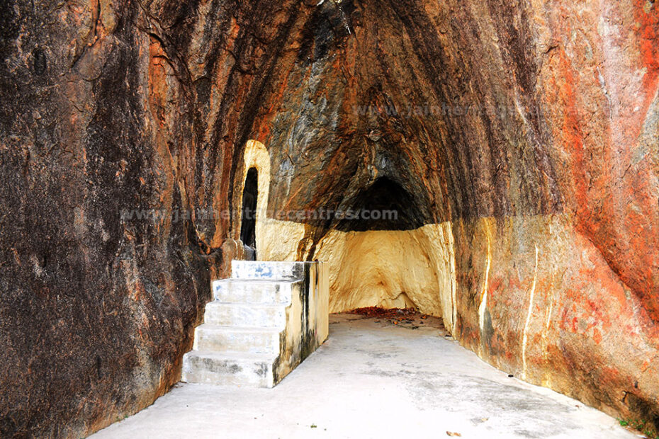 A view of the Jain Cave