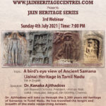 Webinar on Ancient Samana (Jaina) Heritage in Tamil Nadu